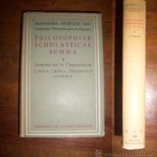 Libros de segunda mano: SALCEDO, LEOVIGILDO. PHILOSOPHIAE SCHOLASTICAE SUMMA. I: INTRODUCTIO IN PHILOSOPHIAM ; LOGICA ;.... Lote 45273692
