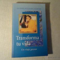 Libros de segunda mano: GUESHE KELSANG GYATSO - TRANSFORMAR TU VIDA, UN VIAJE GOZOSO, LIBRO NUEVO. Lote 45316740