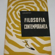 Libros de segunda mano: FILOSOFIA CONTEMPORANEA, HERDER 1959 - LIBRO ANTIGUO. Lote 45563871