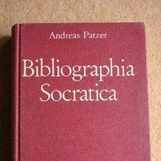 Libros de segunda mano: BIBLIOGRAPHIA SOCRATICA. PATZER (ANDREAS). Lote 45724709