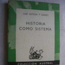 Libros de segunda mano: HISTORIA COMO SISTEMA. ORTEGA Y GASSET, JOSÉ. 1971. Lote 45901928