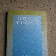 Libros de segunda mano: KANT. HEGEL. SCHELER. ORTEGA Y GASSET. ALIANZA EDITORIAL, 1983.. Lote 46095376