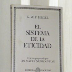 Libros de segunda mano: EL SISTEMA DE LA ETICIDAD.. Lote 46216686