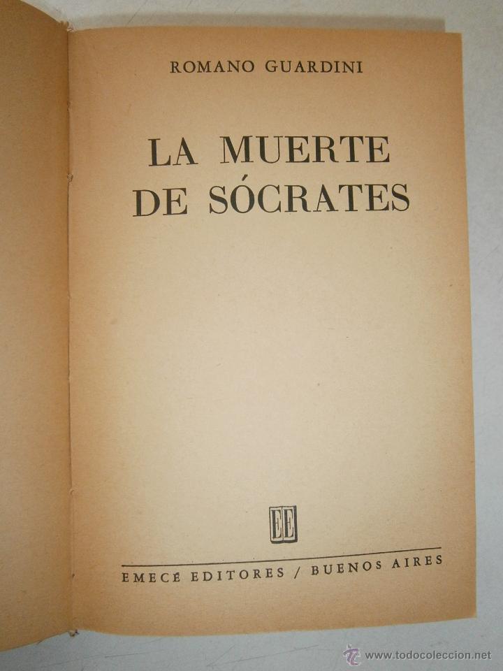 Libros de segunda mano: La muerte de Socrates Romano Guardini Emece 1960 - Foto 5 - 47003494