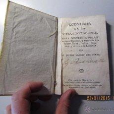 Libros de segunda mano: ECONOMIA DE LA VIDA HUMANA DE JOSEPH MENDEZ DEL YERMO - LIBRO PERGAMINO. Lote 47435880