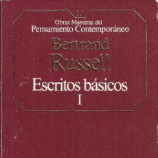 Libros de segunda mano: ESCRITOS BÁSICOS I - BERTRAND RUSSELL - EDITORIAL PLANETA AGOSTINI - 1985. Lote 49026079