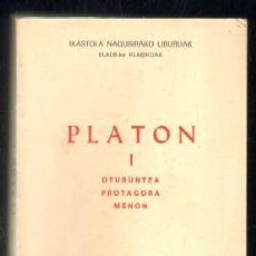 PLATON I. OTURUNTZA,PROTAGORA,MENON A-FIL-678