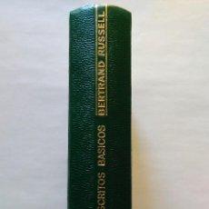 Libros de segunda mano: BERTRAND RUSSELL: ESCRITOS BÁSICOS 1903-1959. AGUILAR, 1973. Lote 93824899