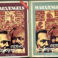 Libros de segunda mano: MARX / ENGELS : OBRAS ESCOGIDAS - DOS TOMOS (AKAL, 1975). Lote 69312475