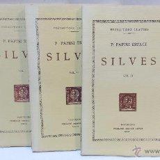 Libros de segunda mano: ESCRIPTORS LLATINS. P.PAPINI ESTACI. SILVES. 3 VOLS. FUNDACIO BERNAT METGE. 1957, 1958 Y 1960.. Lote 50212079