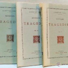 Libros de segunda mano: ESCRIPTORS GRECS. SOFOCLES, TRAGEDIES. VOLS 1,3 Y 4. FUNDACIO BERNAT METGE. VER DESCRIPCION. Lote 50334754