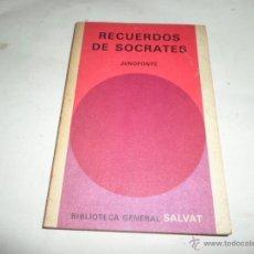 Libros de segunda mano: JENOFONTE, RECUERDOS DE SOCRATES, SALVAT. Lote 50382592