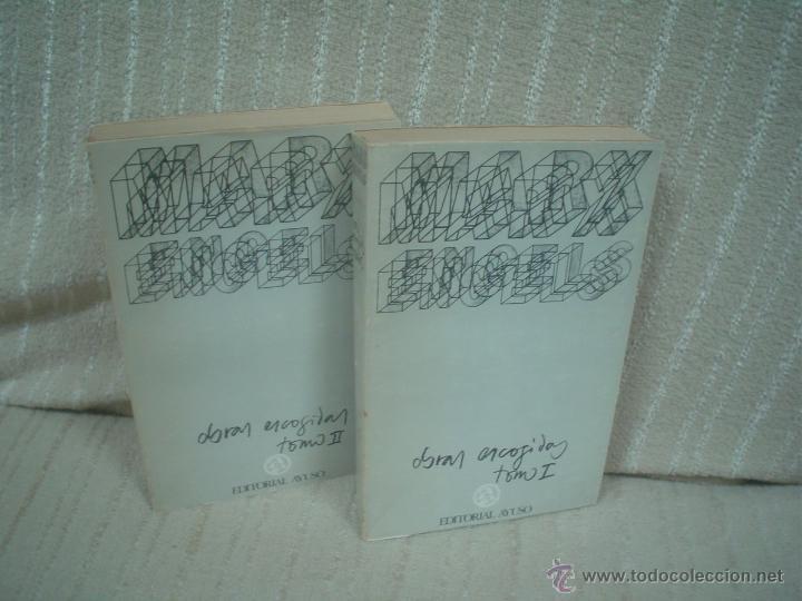 MARX, ENGELS: OBRAS ESCOGIDAS 2 TOMOS (Libros de Segunda Mano - Pensamiento - Filosofía)