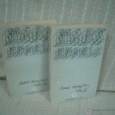 Libros de segunda mano: MARX, ENGELS: OBRAS ESCOGIDAS 2 TOMOS. Lote 50404774