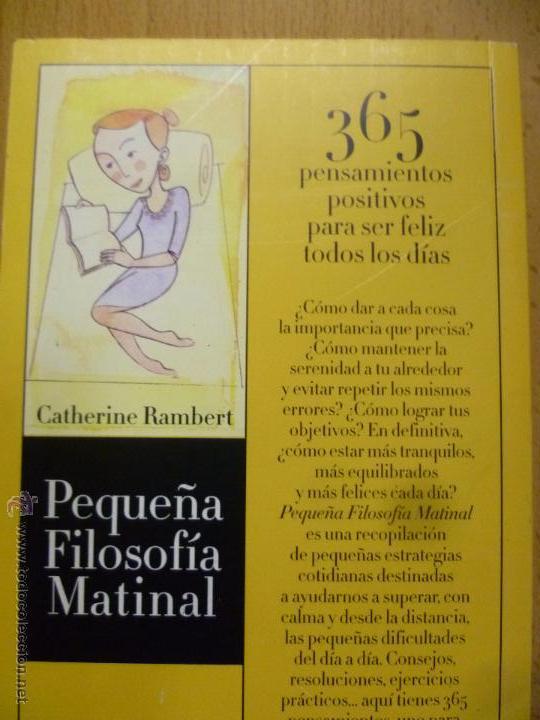 Libros de segunda mano: PEQUEÑA FILOSOFÍA MATINAL - RAMBERT, Catherine - Foto 4 - 161837124