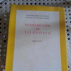 Libros de segunda mano: FUNDAMENTOS DE FILOSOFIA - ANTONIO MILLAN PUELLES - 7 EDICION. 1970. Lote 51248633