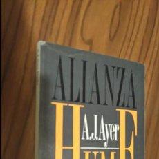 Libros de segunda mano: HUME. A.J.AYER. ALIANZA EDITORIAL. 1ª EDICIÓN. Lote 51347860
