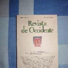 Libros de segunda mano: REVISTA DE OCCIDENTE Nº 62-63. JULIO-AGOSTO 1986. DEPORTE Y MODERNIDAD. Lote 52389752