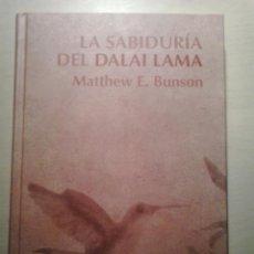 Libros de segunda mano: LA SABIDURÍA DEL DALAI LAMA. MATTHEW E. BUNSON. RBA.. Lote 52914715