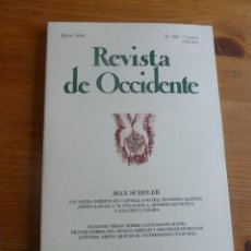 Libros de segunda mano: REVISTA DE OCCIDENTE. MARZO 2002.N º 250. MAX SCHELER. 164PP. Lote 53626350