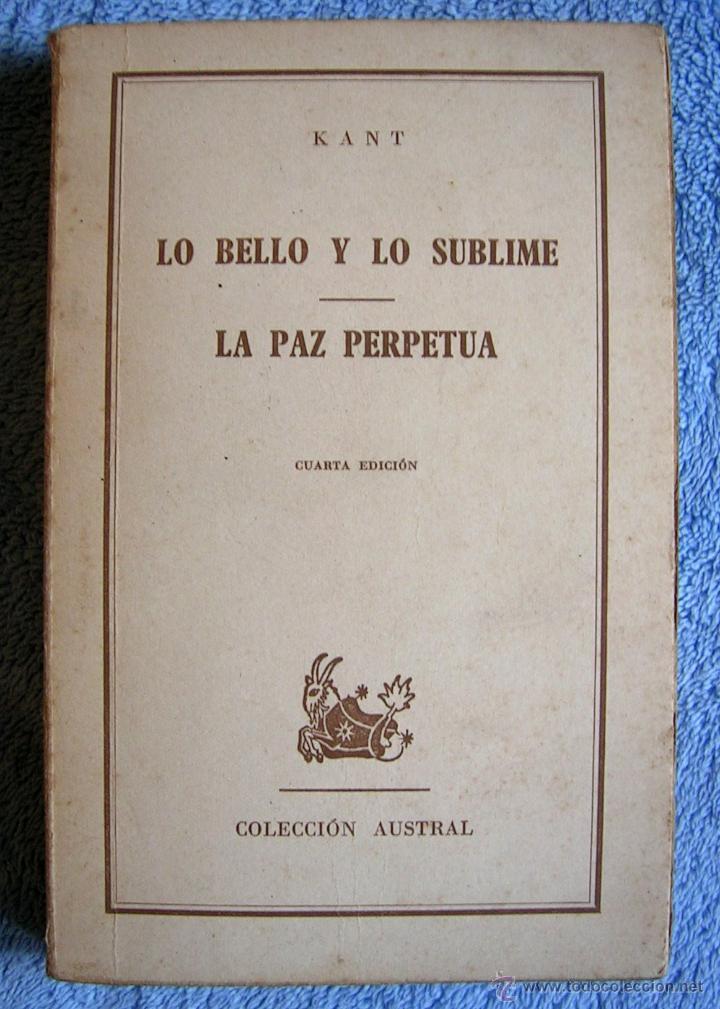 LO BELLO Y SUBLIME