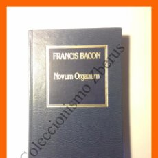 Libros de segunda mano: FRANCIS BACON - NOVUM ORGANUM - COLECCIÓN HISTORIA DEL PENSAMIENTO Nº26. Lote 195160407