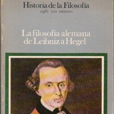 Libros de segunda mano: FILOSOFÍA ALEMANA DE LEIBNIZ A HEGEL (HISTORIA FILOSOFÍA SIGLO XXI, Nº 7 1984). Lote 55699625