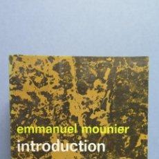 Libros de segunda mano: INTRODUCTION AUX EXISTENTIALISMES. EMMANUEL MOUNIER. Lote 56146532