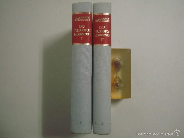 CLEMENTE FERNANDEZ. LOS FILOSOFOS MODERNOS. 1970. 2 TOMOS. PAPEL BIBLIA (Libros de Segunda Mano - Pensamiento - Filosofía)
