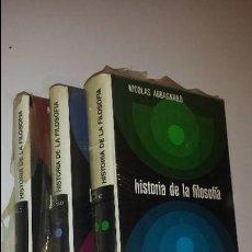 Libros de segunda mano: HISTORIA DE LA FILOSOFIA (3 TOMOS) MONTANER I SIMON. Lote 57808611