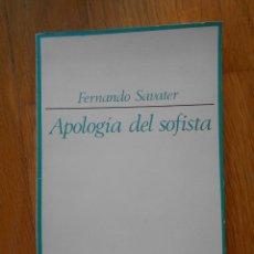 Libros de segunda mano: APOLOGIA DEL SOFISTA, FERNANDO SAVATER, TAURUS. Lote 58122551