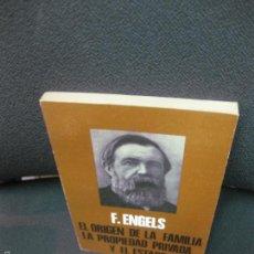 Libros de segunda mano: EL ORIGEN DE LA FAMILIA. LA PROPIEDAD PRIVADA Y EL ESTADO.- F. ENGELS. 1971. Lote 58188980