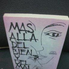 Libros de segunda mano: MAS ALLA DEL BIEN Y DEL MAL.- F. NIETZSCHE. EDITORES MEXICANOS UNIDOS 1973. Lote 58189158