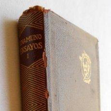 Libros de segunda mano: ENSAYOS (I) - MIGUEL DE UNAMUNO EDITORIAL AGUILAR. Lote 58541138