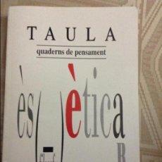 Libros de segunda mano: TAULA QUADERNS DE PENSAMENT. NÚM 23 - 24 / 1995 UIB. Lote 58584555