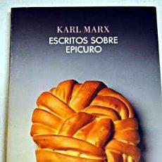 Libros de segunda mano: ESCRITOS SOBRE EPICURO (1839-1841) (MARX, KARL). Lote 58859261