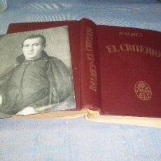 Libros de segunda mano: ANTIGUO TOMO CON GRABADO O ESQUELA BALMES EL CRITERIO EDITORIAL SALA AÑO 1944. Lote 59862224