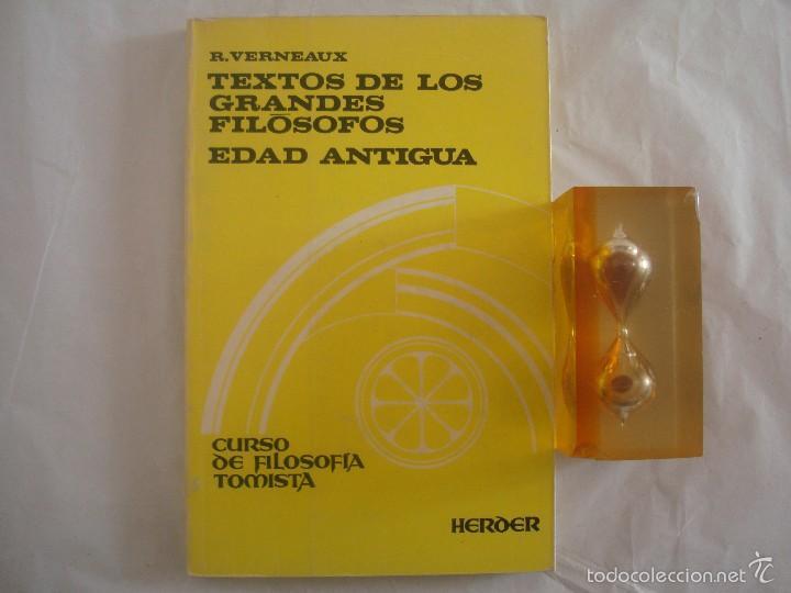 R.VERNEAUX, TEXTOS DE LOS GRANDES FILÓSOFOS, EDAD ANTIGUA. FOLIO MENOR. 1977. (Libros de Segunda Mano - Pensamiento - Filosofía)