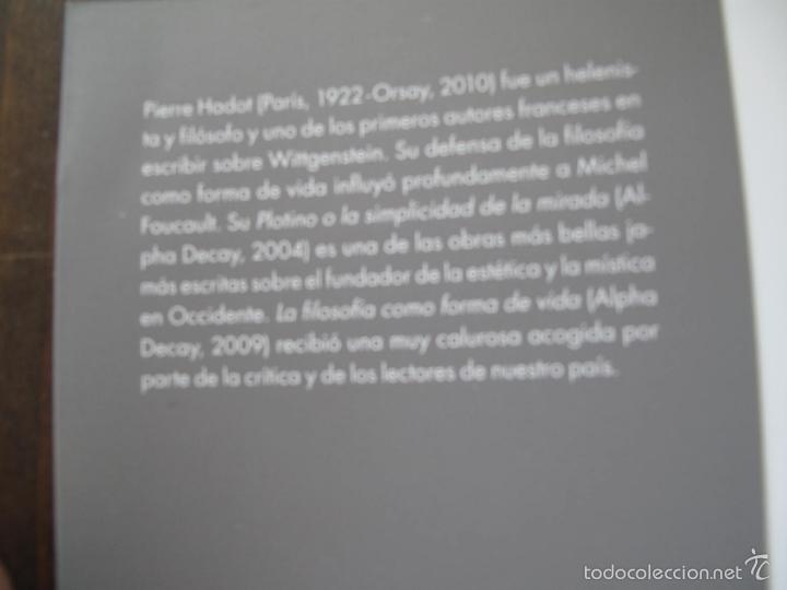 Libros de segunda mano: EL VELO DE ISIS. ENSAYO SOBRE LA HISTORIA DE LA NATURALEZA.- PIERRE HADOT.- ALPHA DECAY. CNL.- - Foto 9 - 166959436