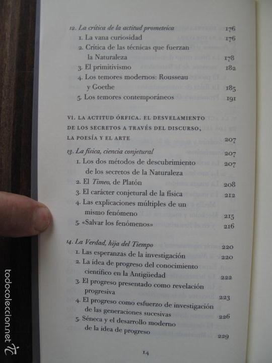 Libros de segunda mano: EL VELO DE ISIS. ENSAYO SOBRE LA HISTORIA DE LA NATURALEZA.- PIERRE HADOT.- ALPHA DECAY. CNL.- - Foto 3 - 166959436
