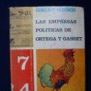 Libros de segunda mano: LAS EMPRESAS POLÍTICAS DE ORTEGA Y GASSET. Lote 145533738