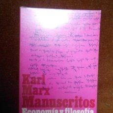 Libros de segunda mano: KARL MARX -MANUSCRITOS ECONOMIA Y FILOSOFIA. Lote 64774251