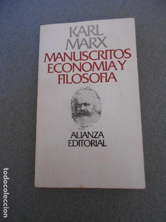 MANUSCRITOS ECONOMIA Y FILOSOFIA (Libros de Segunda Mano - Pensamiento - Filosofía)