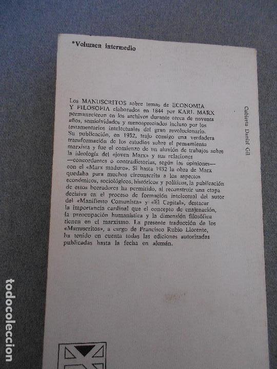 Libros de segunda mano: MANUSCRITOS ECONOMIA Y FILOSOFIA - Foto 3 - 65657434