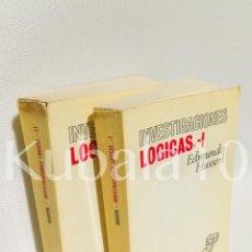 Libros de segunda mano: INVESTIGACIONES LOGICAS · 2 VOLS. · EDMUNDO HUSSERL · SELECTA DE REVISTA DE OCCIDENTE. Lote 67942269