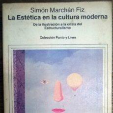 Libros de segunda mano: SIMÓN MARCHÁN FIZ. LA ESTÉTICA EN LA CULTURA MODERNA. GUSTAVO GILI, BARCELONA 1982. Lote 68502733