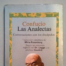 Libros de segunda mano: LAS ANALECTAS. CONFUCIO.. Lote 68658565