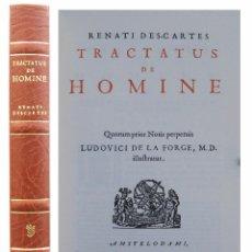 Libros de segunda mano: 1686 (FACSÍMIL) - DESCARTES: TRACTATUS DE HOMINE - ED. FACSÍMIL DE LA DE 1686 - ILUSTRADO. Lote 70578521