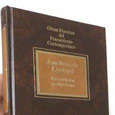 Libros de segunda mano: LA CONDICIÓN POSTMODERNA - JEAN-FRANÇOIS LYOTARD. Lote 71236295