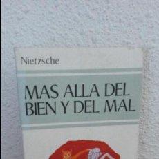 Libros de segunda mano: NIETZSCHE, MAS ALLA DEL BIEN Y DEL MAL.EDAF DE BOLSILLO. Lote 73455003